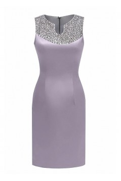 Beaded Short Satin Mother of The Bride Dresses 602053