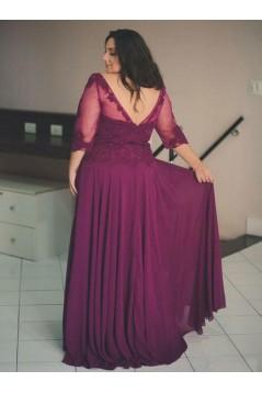 A-Line Lace Appliques Mother of The Bride Dresses 602054