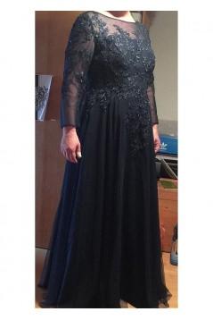 A-Line Lace Appliques Long Mother of The Bride Dresses 602081