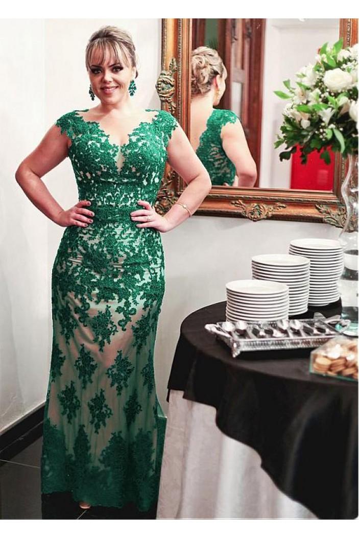 Lace Appliques V-Neck Mother of The Bride Dresses 602085
