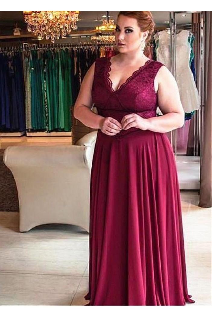 A-Line Lace V-Neck Mother of The Bride Dresses 602090