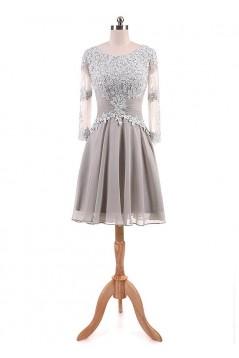 A-Line Lace Appliques Chiffon Mother of The Bride Dresses 602093