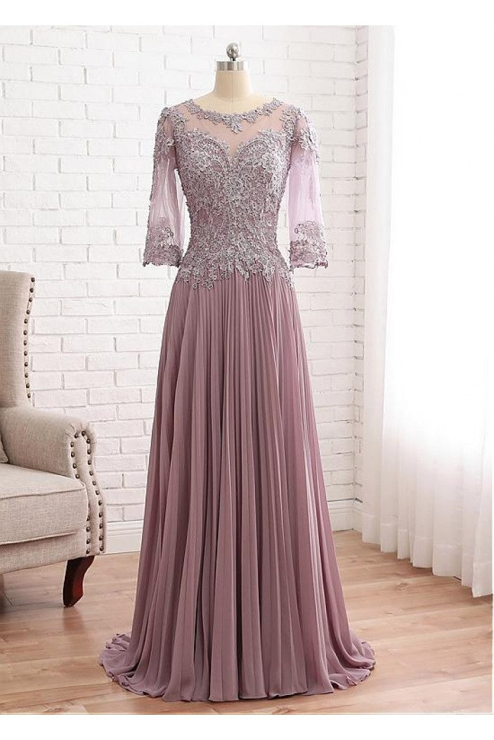 A-Line Lace Chiffon Mother of The Bride Dresses 602095