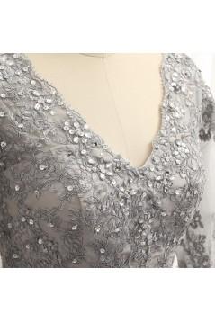 Elegant Chiffon Beaded V-Neck Long Mother of The Bride Dresses 602100