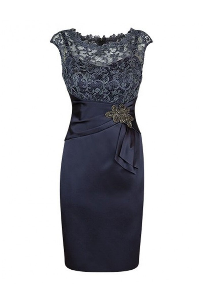 Short Lace Satin Mother of The Bride Dresses 602106