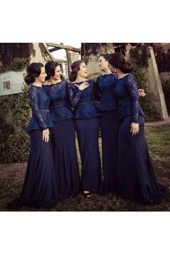 Elegant Lace Long Mother of The Bride Dresses Bridesmaid Dresses 602118