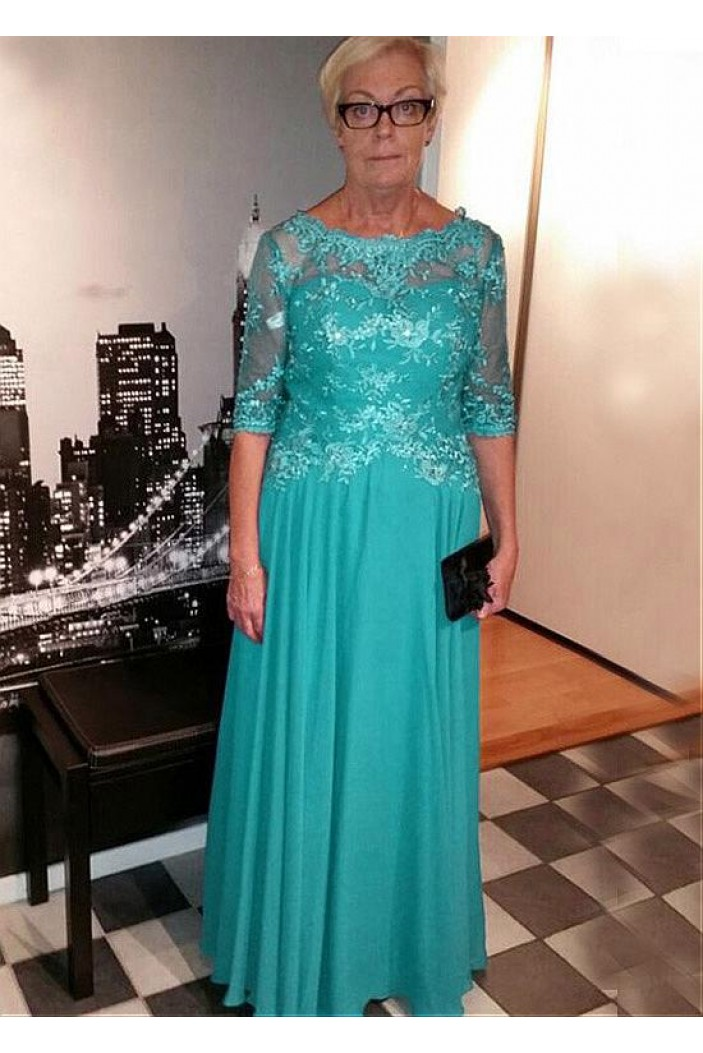 Elegant Chiffon Floor Length Mother of The Bride Dresses 602124
