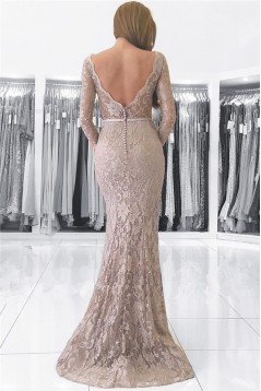 Mermaid V-Neck Lace Long Mother of The Bride Dresses 602141