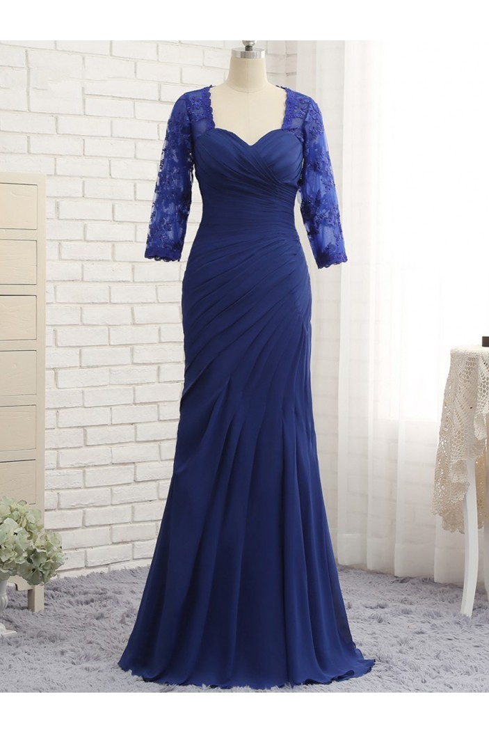 Mermaid 3/4 Length Sleeves Lace Mother of The Bride Dresses 602148