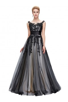 A-Line Beaded Lace Appliques Long Mother of The Bride Dresses 602152