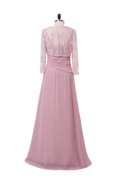 A-Line Beaded Lace Chiffon Long Mother of The Bride Dresses 602162