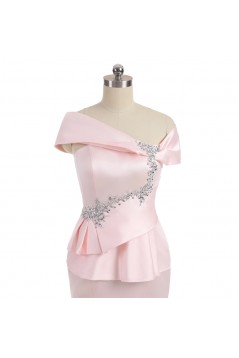 Long Pink Beaded Mermaid Mother of The Bride Dresses 602163
