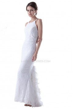 Modest Trumpet / Mermaid Sleeveless Floor length Lace Wedding Dresses WD010001