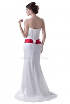 Cheap Strapless Trumpet / Mermaid Sweep/Brush Wedding Dresses WD010005