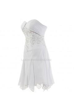 A-line Sweetheart Short/Mini Chiffon Applique Wedding Dresses WD010009