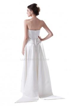A-line Strapless Floor-Length Wedding Dresses WD010013
