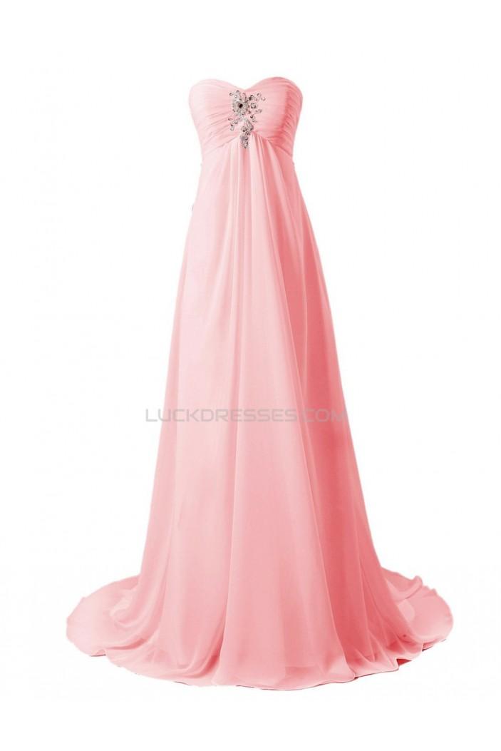 Empire Sweetheart Beaded Chiffon Sweep Train Maternity Wedding Dresses WD010016