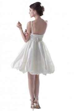 A-line Spaghetti Straps Short Wedding Dresses WD010020