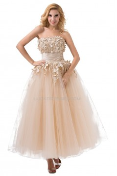 Ball Gown Strapless Tulle Wedding Dresses WD010024