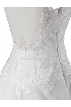 A-line Chapel Train Lace Wedding Dresses WD010028