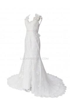 Trumpet/Mermaid Chapel Train Lace Wedding Dresses WD010029