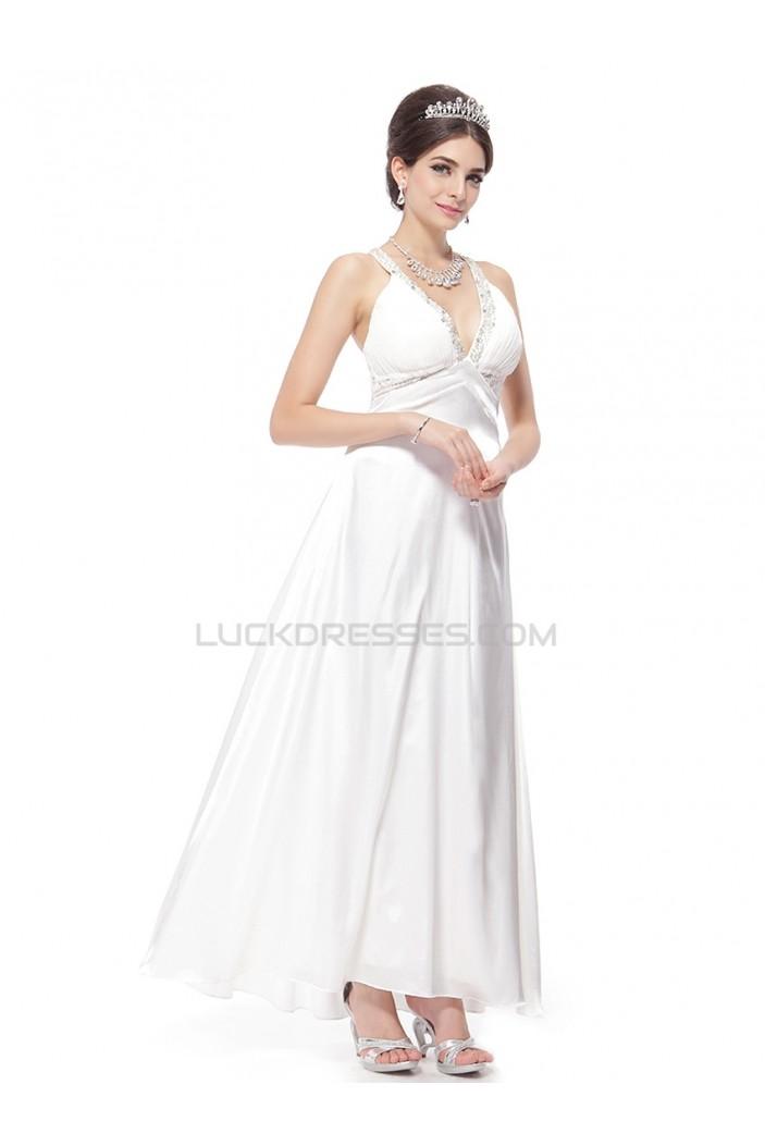 A-line V-neck Beaded Wedding Dresses WD010033