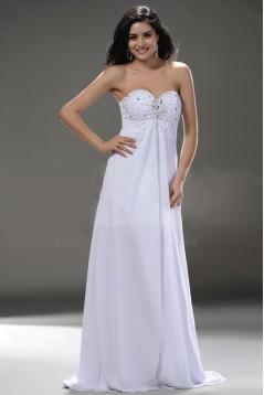 Empire Sweetheart Floor Length Beaded Wedding Dresses Maternity Wedding Dresses WD010041