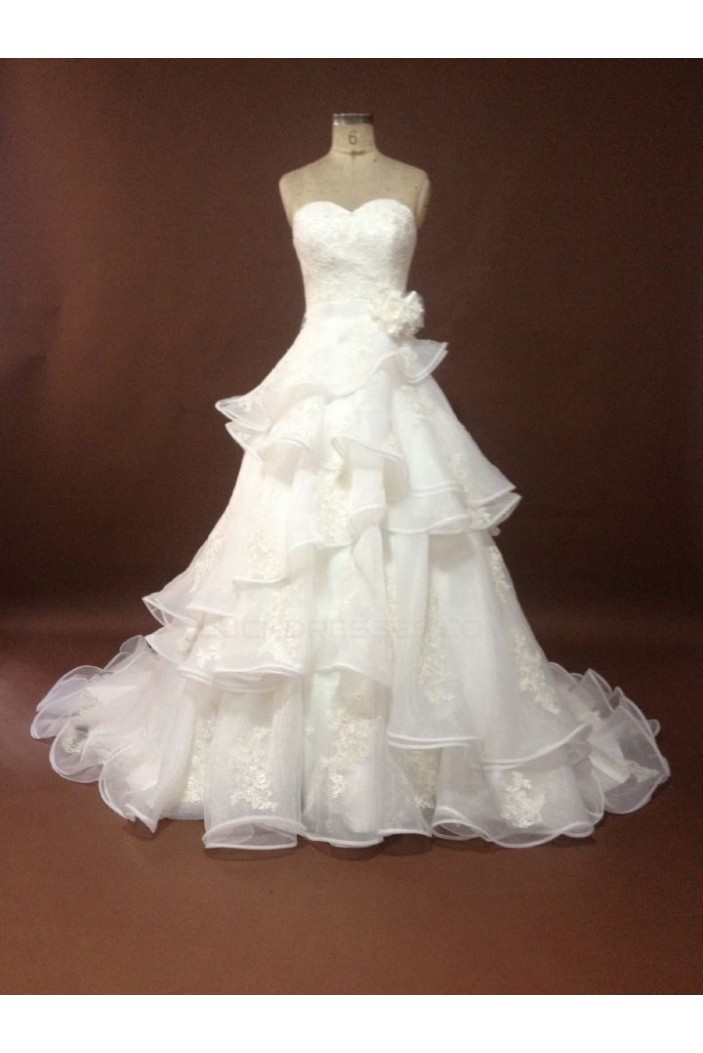 A-line Sweetheart Chapel Train Bridal Wedding Dresses WD010054