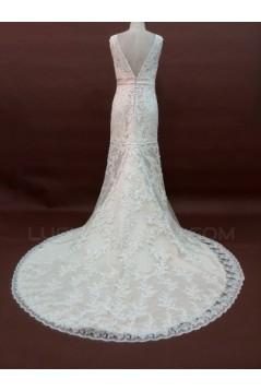 Trumpet/Mermaid V-neck Lace Bridal Wedding Dresses WD010056