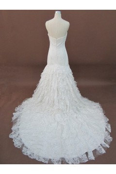 Trumpet/Mermaid Sweetheart Lace Bridal Wedding Dresses WD010064