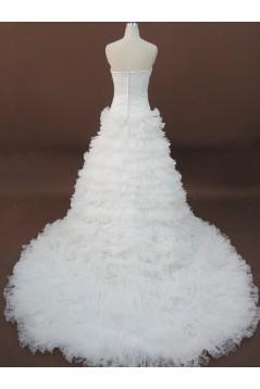 Ball Gown Sweetheart Chapel Train Bridal Wedding Dresses WD010067