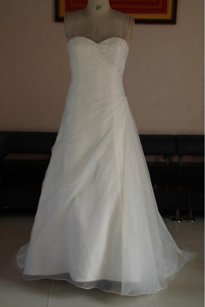 A-line Sweetheart Floor Length Bridal Wedding Dresses WD010086
