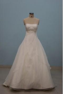 A-line Strapless Floor Length Bridal Wedding Dresses WD010087