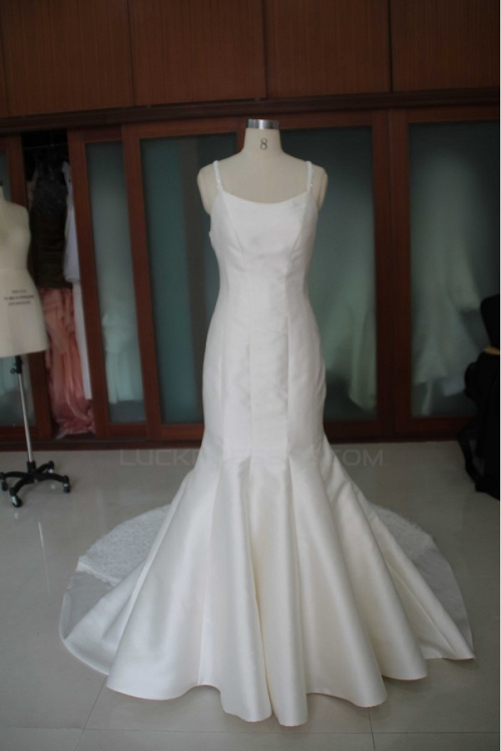 Trumpet/Mermaid Chapel Train Bridal Wedding Dresses WD010095