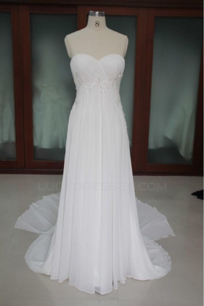 Empire Sweetheart Chiffon Bridal Wedding Dresses WD010100