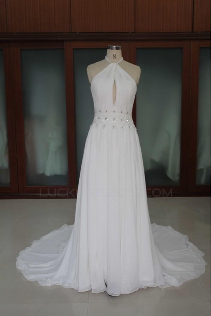 Sheath/Column Chiffon Bridal Wedding Dresses WD010106