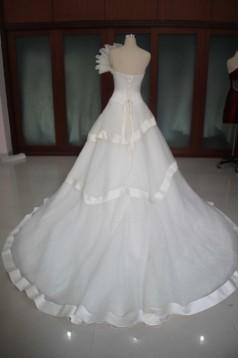 A-line Sweetheart Chapel Train Bridal Wedding Dresses WD010111