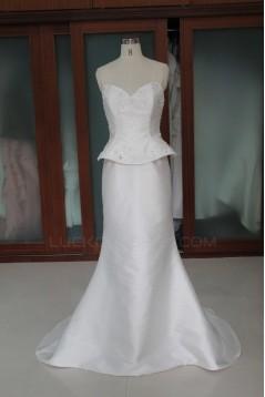 Trumpet/Mermaid Court Train Beaded Bridal Wedding Dresses WD010112