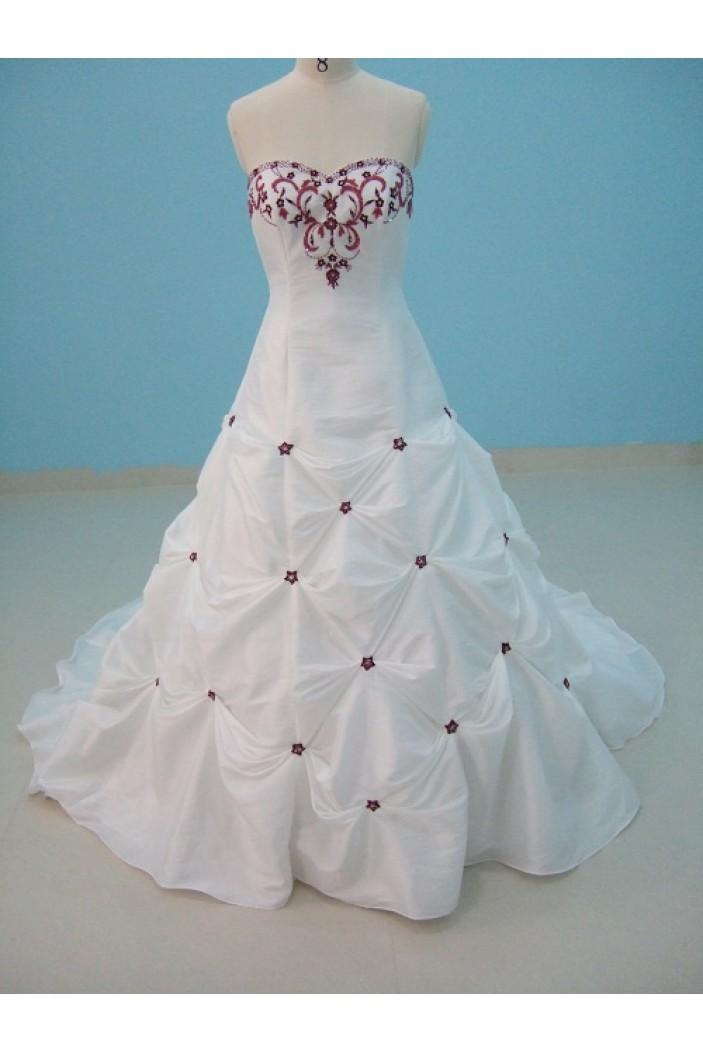 A-line Sweetheart Chapel Train Bridal Wedding Dresses WD010121