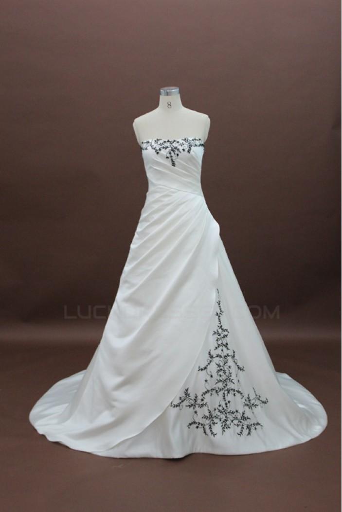 A-line Strapless Bridal Wedding Dresses WD010125