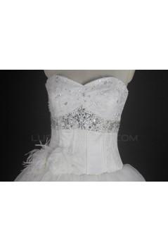 Ball Gown Sweetheart Chapel Train Beaded Bridal Wedding Dresses WD010133