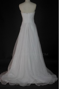 A-line Sweetheart Court Train Bridal Wedding Dresses WD010135