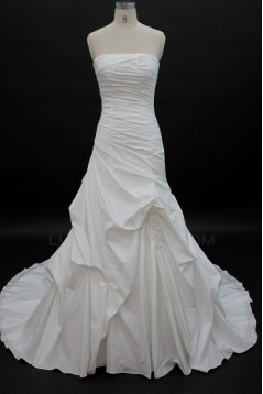 Cheap A-line Strapless Bridal Wedding Dresses WD010141