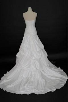 Elegant A-line Strapless Bridal Wedding Dresses WD010142