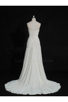 Affordable Sheath/Column Chiffon Bridal Wedding Dresses WD010144