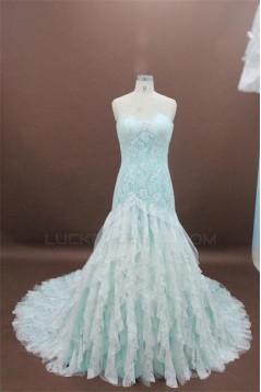 Elegant A-line Sweetheart Chapel Train Lace Bridal Wedding Dresses WD010150