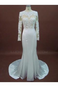 Trumpet/Mermaid Long Sleeves Lace Bridal Wedding Dresses WD010151