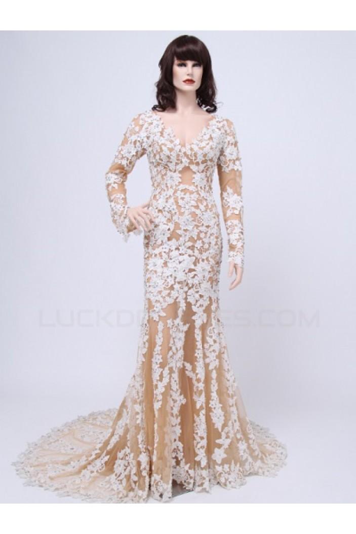 Trumpet/Mermaid Long Sleeves Lace Bridal Wedding Dresses WD010155