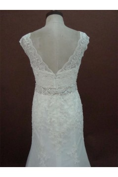 Elegant Trumpet/Mermaid Court Train Lace Bridal Wedding Dresses WD010161