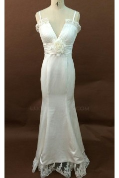 Trumpet/Mermaid Spaghetti Straps Bridal Wedding Dresses WD010165